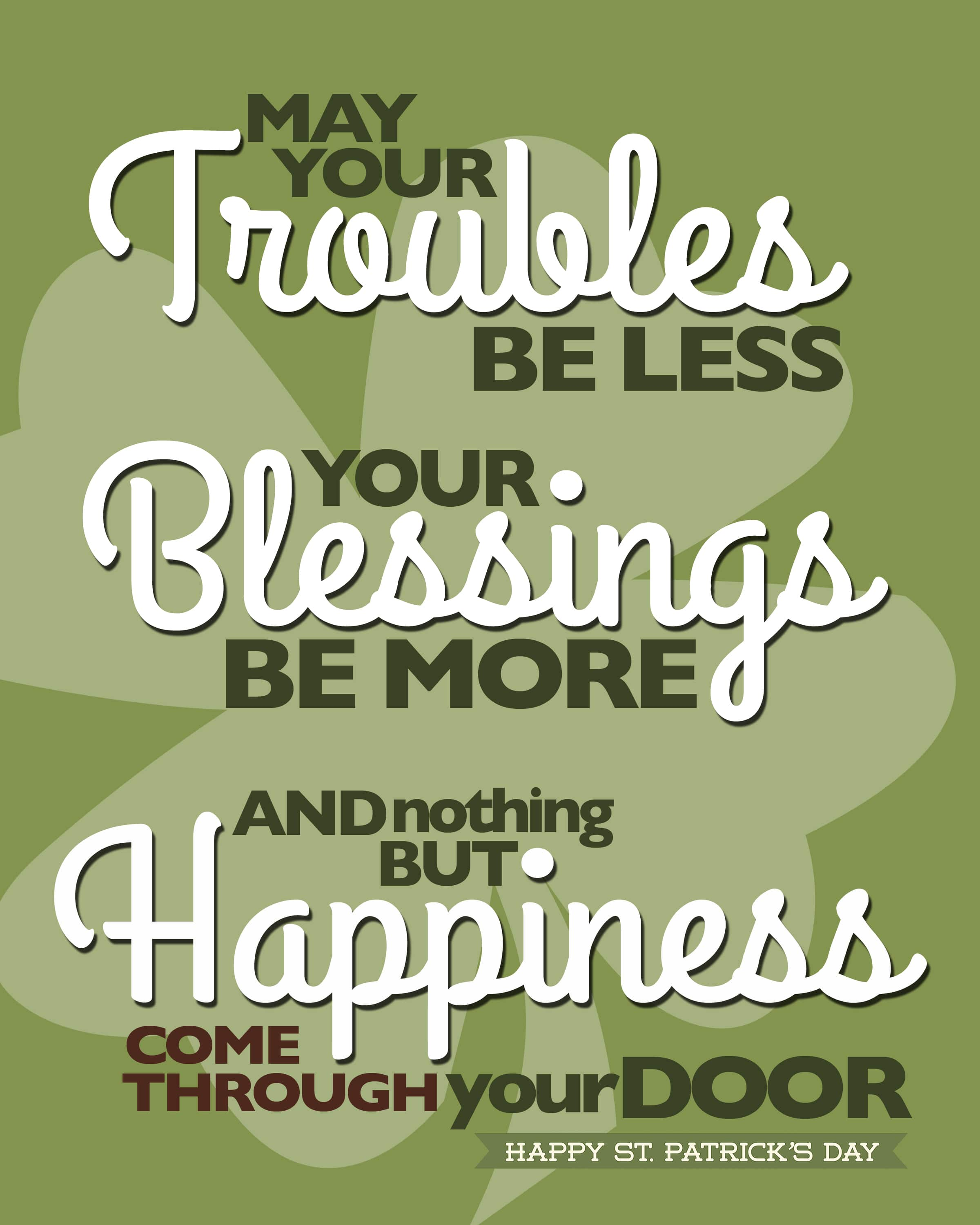Happy St Patrick S Day Irish Blessings Saying Quotes