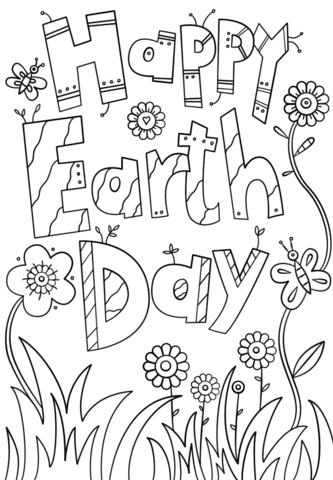 Free HD Images Earth Day Coloring Pages For Kids And