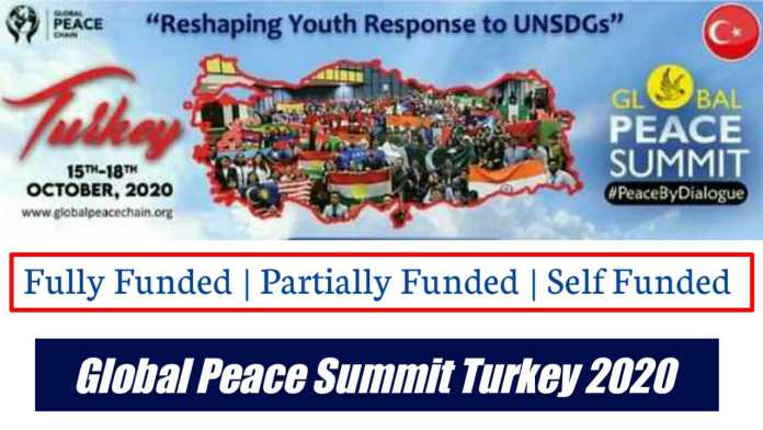 Global Peace Chain Summit Fully Funded Conference in Turkey 2020