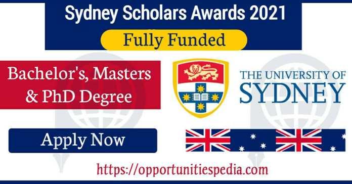 Sydney Scholars Awards 2021 - Fully Funded in Australia