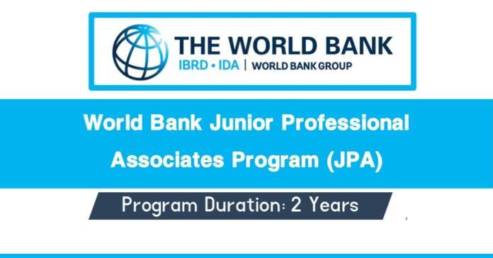 World Bank Junior Professional Associates Program 2021-22 (JPA)