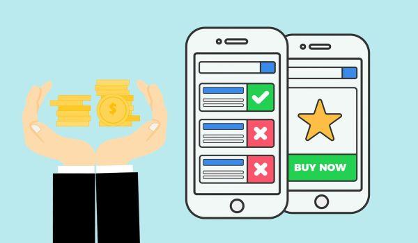 Manos y teléfonos representando las ganancias provenientes de la publicidad en facebook.