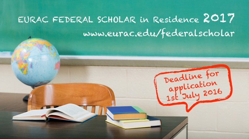 2017 EURAC Federal Scholar in Residence Program – Italy