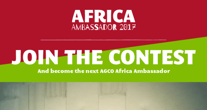 AGCO Africa Ambassador Contest 2017 (Funded trip to Berlin, Germany + $10,000 Award)