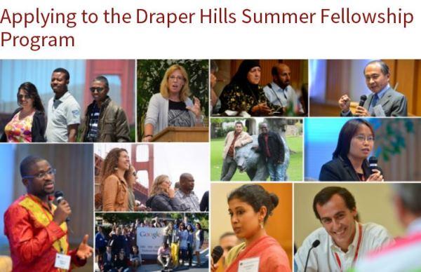 Draper Hills Summer Fellowship Program 2017