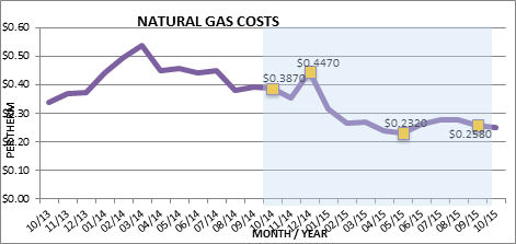 Natural Gas Costs