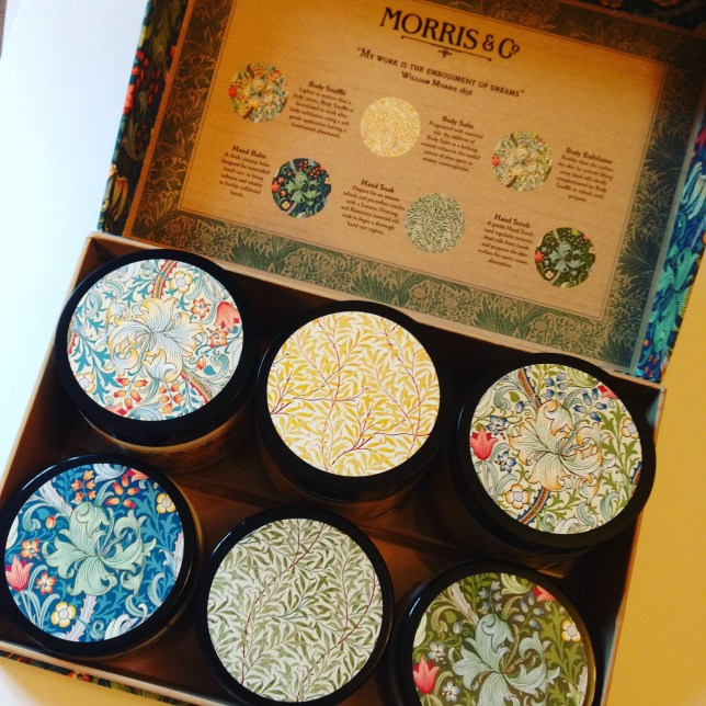 William Morris skincare box contents