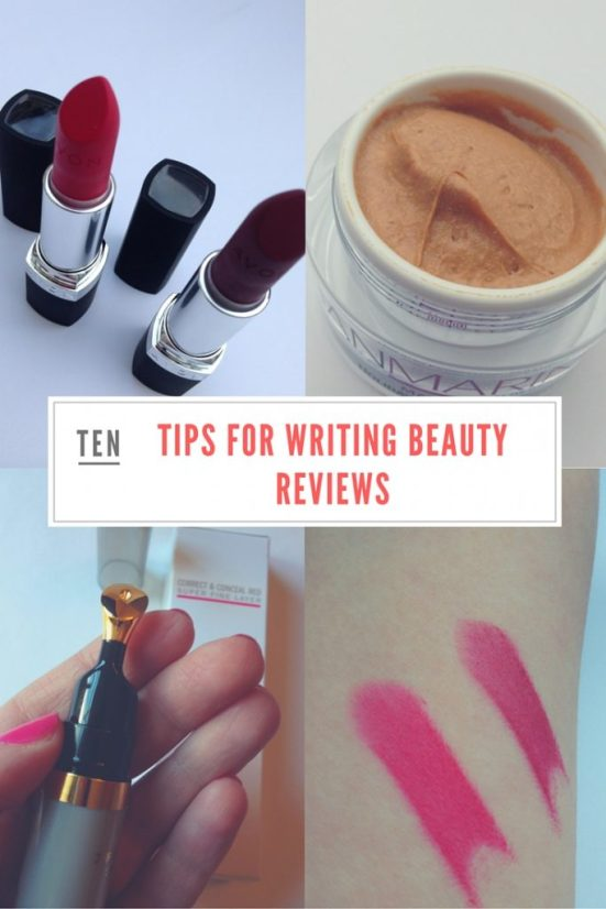 10 tips for writing beauty reviews