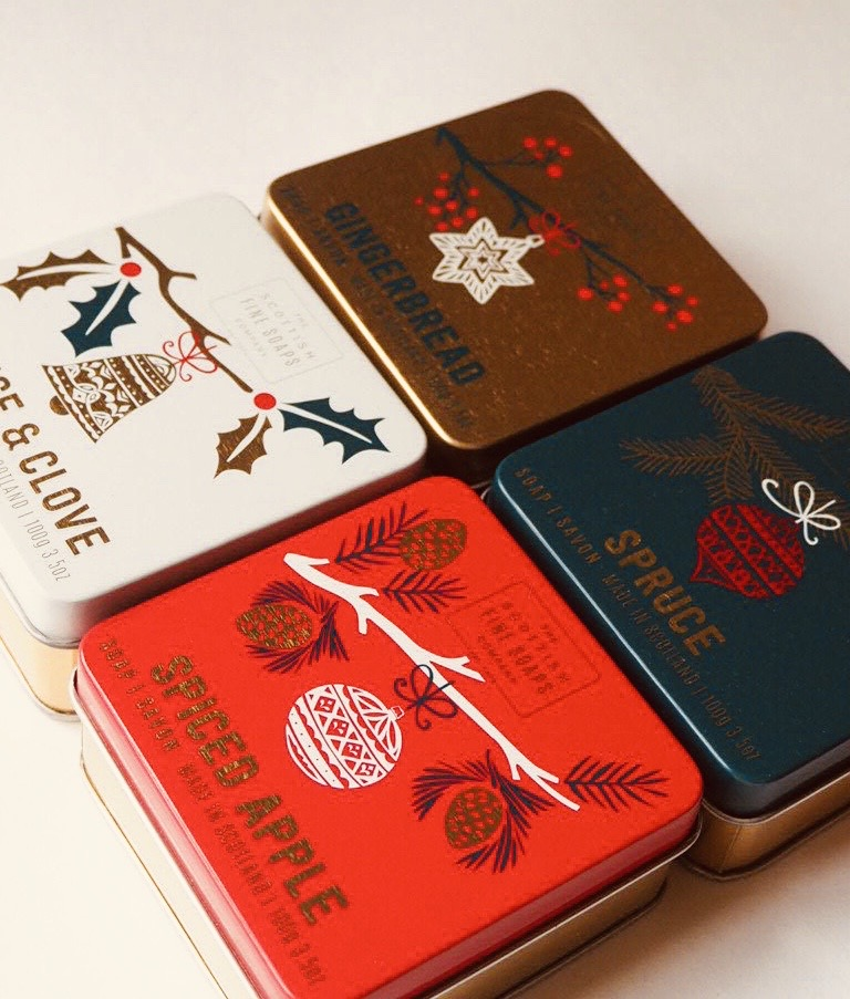 Christmas scented soaps range from Scottish Fine Soaps