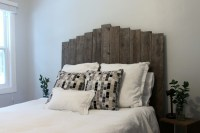 Make Your Own Weathered Wood Headboard