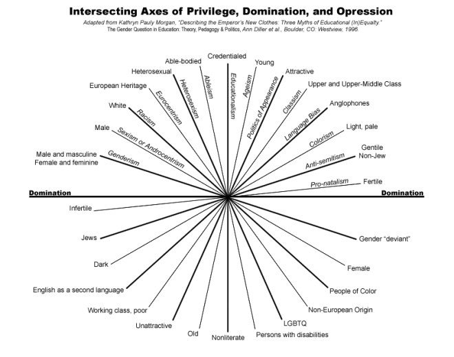Intersecting Axis of Privilege Domination and Oppression