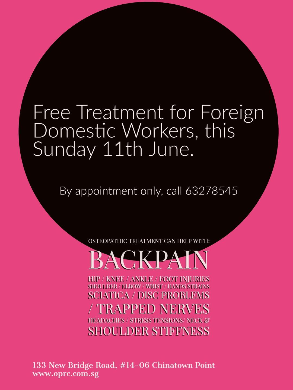FDW free osteopathic treatment