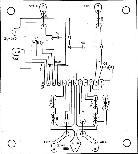 audio amplifier circuit using ta7283ap