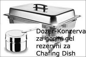 Dozer-Konzerva za gorini gel rezervni za Chafing Dish