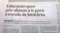 Nuno Crato pedalar para a escola 3