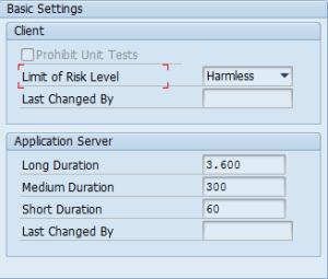 Unit test client settings