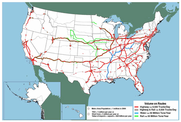 Learn how to create your own. Major Freight Corridors Fhwa Freight Management And Operations