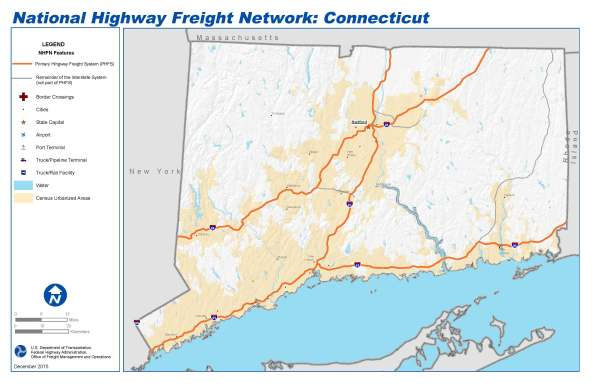 National Highway Freight Network Map and Tables for