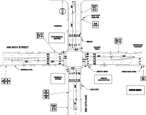 Traffic Accident Street Diagram Template
