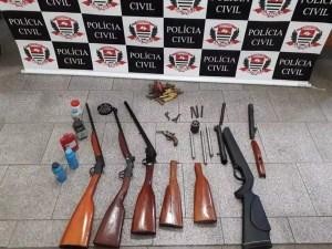 Homem preso por fabricar armas em Catanduva