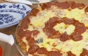 PizzaCrocante de Macarrão Instantâneo