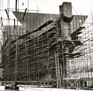 Tanker Hector Hawk in aanbouw,1959