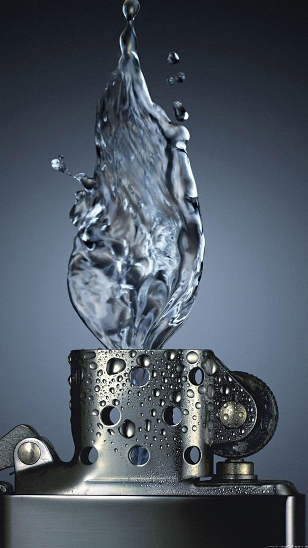Isqueiro com chama de água