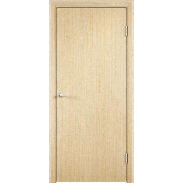Гладкая шпонированная дверь (беленый дуб)