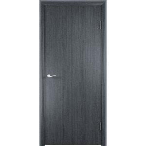 Гладкая шпонированная дверь (серебристый дуб)