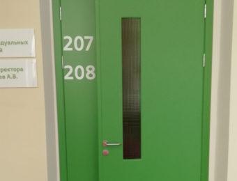 Техническая дверь с армированным стеклом