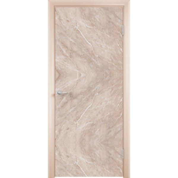 Дверь облицованная пластиком CPL (глухая, мрамор бежевый)