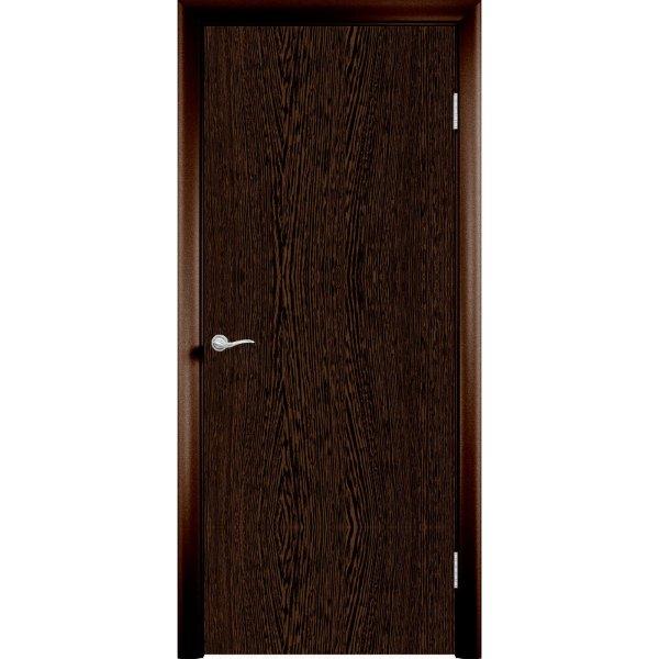 Дверь облицованная пластиком CPL (глухая, венге цаво)