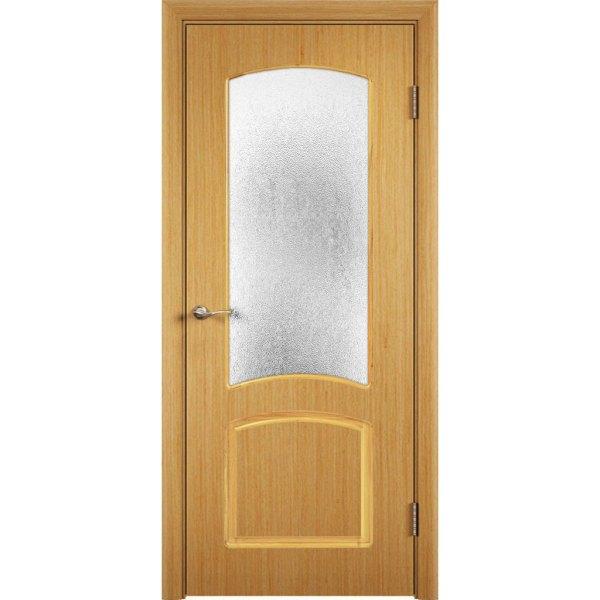 Шпонированная дверь Наполеон (со стеклом, дуб)