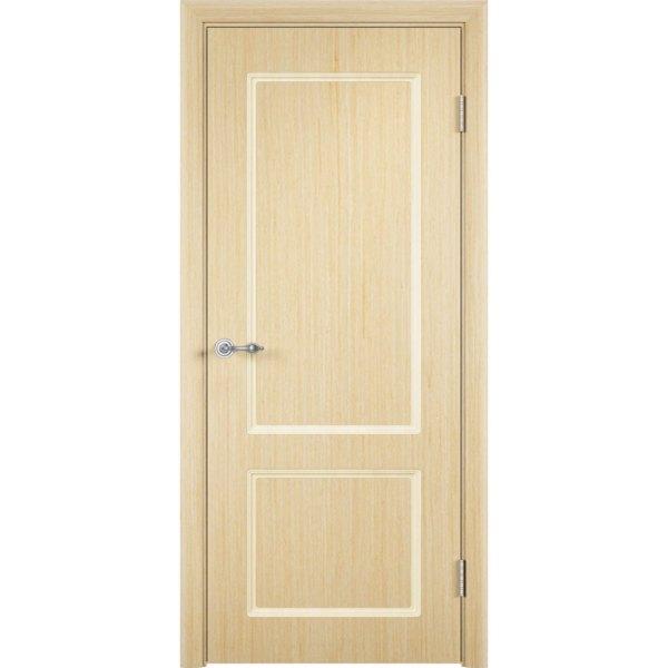 Шпонированная дверь Марсель (глухая, беленый дуб)