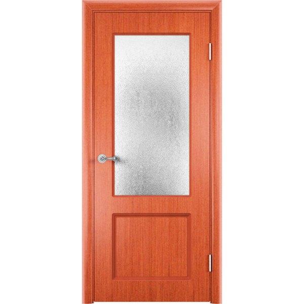 Шпонированная дверь Марсель (со стеклом, вишня)