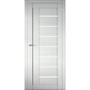 Межкомнатная царговая дверь Д-01 (со стеклом, белая лиственница)