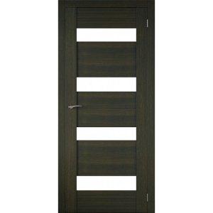Межкомнатная царговая дверь Р-02 (со стеклом, венге)