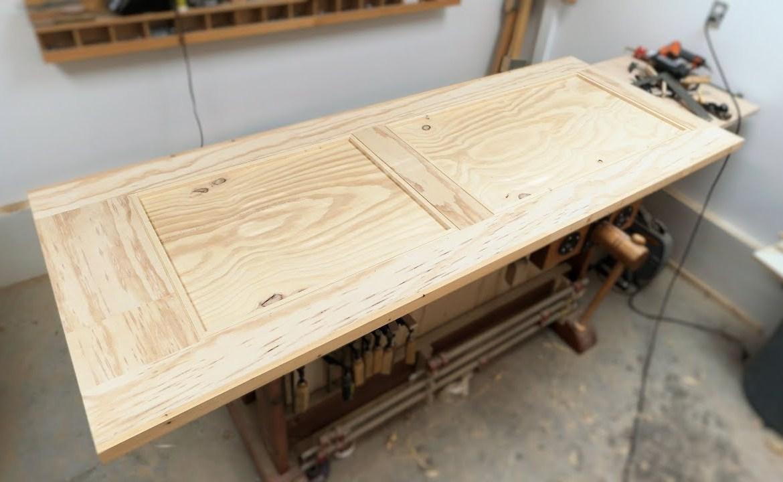 Изготовление двери из фанеры