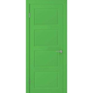 Крашеная дверь Евро 4 (глухая, RAL 6018)