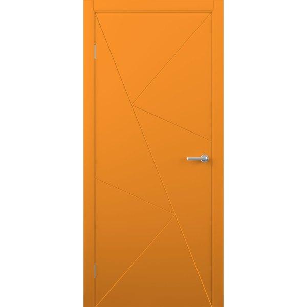 Крашеная дверь Графика (глухая, RAL 2004)