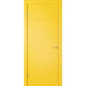 Крашеная дверь Кварта (глухая, RAL 1021)