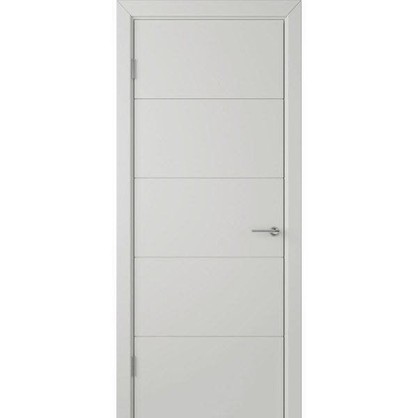 Крашеная дверь Кварта (глухая, RAL 7035)