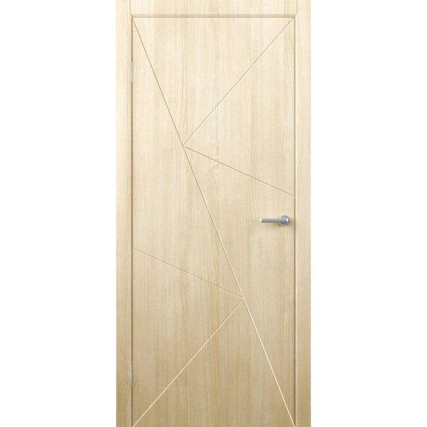 Шпонированная дверь Графика (ДГ, беленый дуб)