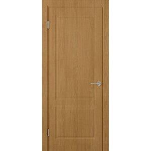 Шпонированная дверь Евро 2 (ДГ, орех)