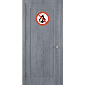 Деревянная противопожарная дверь Евро (ДГ, серебристый дуб)