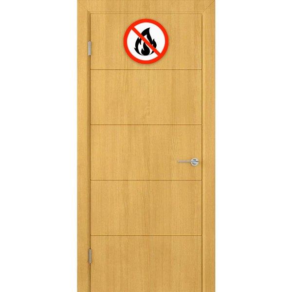 Деревянная противопожарная дверь Кварта (ДГ, дуб)