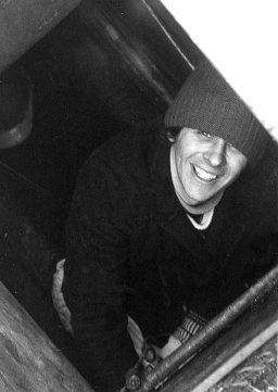 Happy chappy in footway box