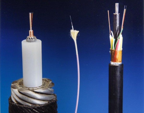 Three different types of optical cable