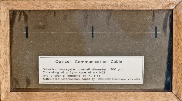 World's first single-mode optical communications fibre 1965