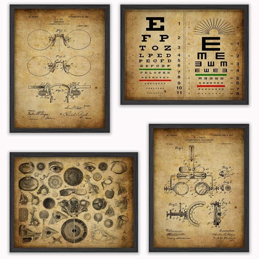 vintage optometry art